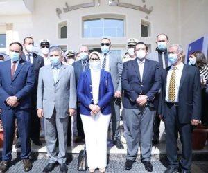 وزيرة الصحة تشهد تطعيم المرشدين بقناة السويس بلقاح كورونا (صور)