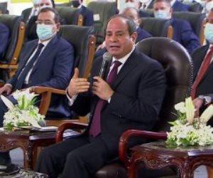 """الرئيس السيسى: """"نهر النيل من عند ربنا.. واللى عمله ربنا مش هيغيره البشر"""""""