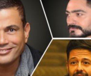 أبرزهم عمرو دياب.. 20 فنانا مصريا يسيطرون على قائمة نجوم الموسيقى العرب 2021