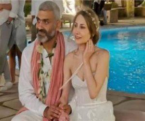 هاني عادل تريند جوجل بعد زفافه على اللبنانية دياموند بو عبود (فيديو وصور)
