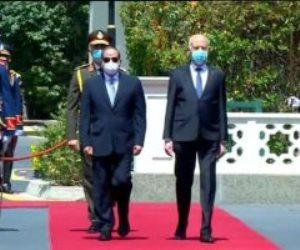 مراسم استقبال رسمية للرئيس التونسي بقصر الاتحادية