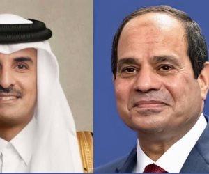 الرئاسة: الرئيس السيسى يتلقي اتصالاً هاتفيًا من أمير قطر للتهنئة بحلول رمضان