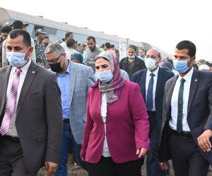 وزيرة التضامن توجه بتقديم كافة سبل الدعم والتعويضات لمتضرري حادث قطار طوخ