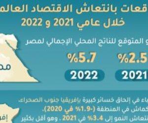 صندوق النقد الدولى يتوقع تسجيل مصر نمو 2.5% بـ2021 وصولا لـ5.7% فى 2022
