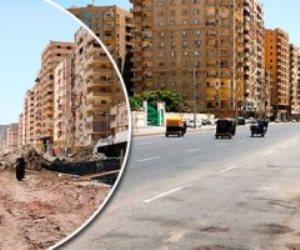 اللمسات النهائية لتطوير محور ترسا قبل إغلاق شارع الهرم (صور)