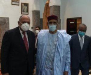 وزير الخارجية يطلع رئيس النيجر على مستجدات ملف سد النهضة وموقف مصر