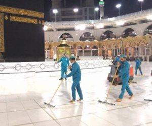 تكثيف عمليات التطهير والتعقيم.. تفاصيل استعدادات الحرمين للمصلين في العشر الأواخر لشهر رمضان