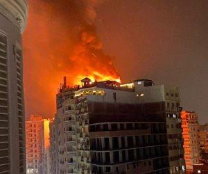 اندلاع حريق في الطابق الأخير بفندق بانوراما بطنطا