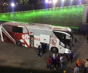 حافلة الزمالك تصل استاد القاهرة استعدادا لمباراة القمة أمام الأهلي (صور)