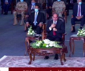 الرئيس السيسي: اللي تلقي النار والرصاص والعبوات الناسفة هم أبناء مصر من الجيش والشرطة بدلا من الشعب