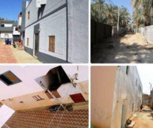 منطقة الخارجة تتحول لمساكن فندقية.. مشروعات التطوير تغير ملامح القرى في الوادي الجديد (صور)