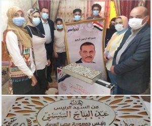 هدايا من الرئيس السيسى لأسر شهداء الأطقم الطبية بمناسبة عيد الفطر.. صور
