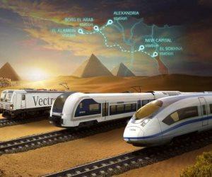 «العملقة البحرية».. تفاصيل شبكة القطار الكهربائي السريع و«قناة سويس ثالثة» لربط البحرين المتوسط والأحمر
