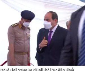 الرئيس السيسي يصل مسجد الماسة بالعلمين الجديدة لأداء صلاة العيد