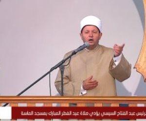 بدء خطبة العيد في مسجد الماسة بحضور الرئيس السيسي