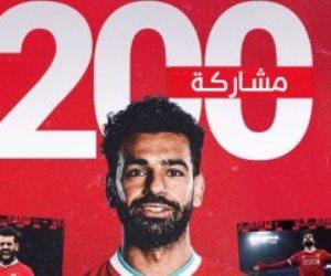 حصاد النجم محمد صلاح مع ليفربول في 200 مباراة.. صور