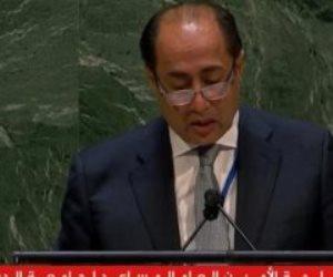 حسام زكى أمام الأمم المتحدة: آن الأوان ليرفض الضمير العالمى انتهاكات إسرائيل