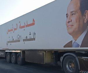مواد غذائية ومسنلزمات طبية.. إدخال قافلة مساعدات إنسانية من أحزاب مصرية إلى قطاع غزة (صور)