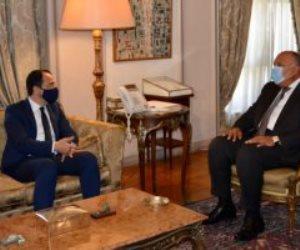 وزير الخارجية يستقبل نظيره القبرصى لبحث القضايا الإقليمية وعلاقات البلدين