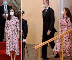 بفستان فلوري قديم.. ملكة أسبانيا تظهر للمرة الـ 3 بنفس الأزياء