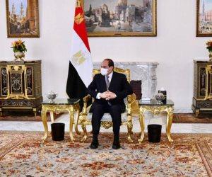 الرئيس السيسى يستقبل تركى آل الشيخ مستشار الديوان الملكى