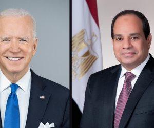 الرئيسان السيسي وبايدن يؤكدان الانخراط فى حوار شفاف فى ملف حقوق الإنسان