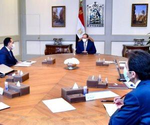 الرئيس السيسى يوجه بمواصلة تعزيز جهود تعميق التصنيع المحلي وتوطين التكنولوجيا والاستمرار في إنشاء المجمعات الصناعية