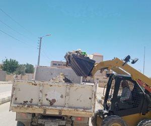 """""""مجلس الحسنة"""" بوسط سيناء يرفع شعار """"مدينة نظيفة بلا نفايات"""" ويرفع 8 اطنان قمامة من الشوارع ( صور)"""