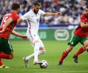 هل يغيب عن اليورو ..إصابة بنزيما فى تفوق فرنسا على بلغاريا بالشوط الأول.. فيديو