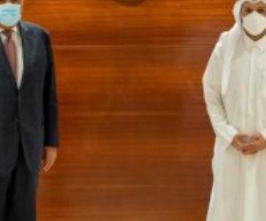 وزير الخارجية يلتقى نظيره القطرى بالدوحة بحضور وفد البلدين