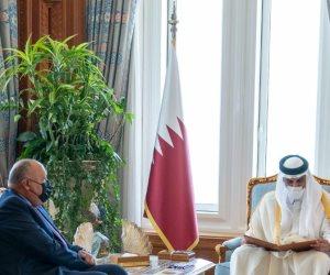 الرئيس السيسي يدعو أمير قطر لزيارة مصر في أقرب فرصة
