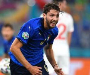 """يورو 2020.. إيطاليا تتقدم بهدف على سويسرا فى شوط مثير وإصابة كيليني """"فيديو"""""""