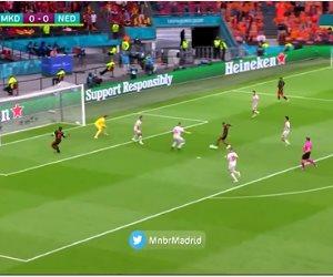 """يورو 2020.. هولندا تحقق العلامة الكاملة بثلاثية أمام مقدونيا """"فيديو"""""""