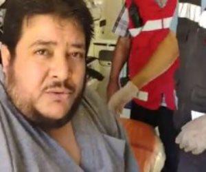 لعلاجه على نفقة الدولة.. نقل رضا إبراهيم مريض السمنة المفرطة إلى القاهرة (فيديو)