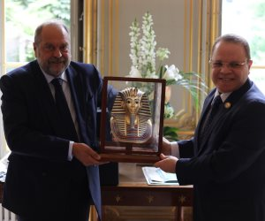 النائب العام يلتقي وزير العدل الفرنسي بالعاصمة باريس (صور)