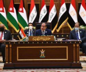 الرئيس السيسى يؤكد تطلع مصر إلى تدشين مرحلة جديدة من التعاون البناء مع العراق والأردن