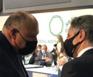 وزير الخارجية يبحث مع نظيره الأمريكى ملف سد النهضة الإثيوبى