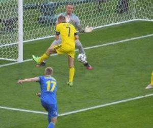 منتخب السويد يتعادل مع أوكرانيا 1 - 1 فى الشوط الأول بـ يورو 2020.. فيديو
