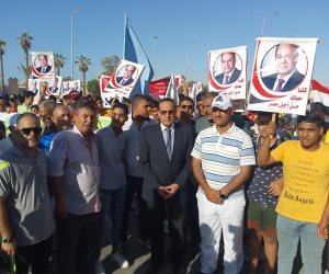 شمال سيناء تحتفل بذكرى ثورة 30 يونية بماراثون ومهرجانات شبابية بالعريش (صور)