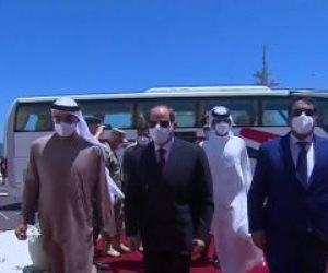 الرئيس السيسي يصل مقر افتتاح قاعدة 3 يوليو البحرية