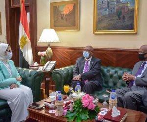 وزيرة الصحة تستقبل نظيرها السوداني.. وتؤكد حرص الرئيس السيسي على تقديم الدعم للأشقاء