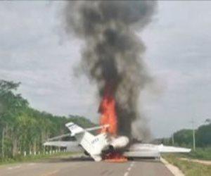 تحطم طائرة على متنها 9 أشخاص بعد إقلاعها فى السويد
