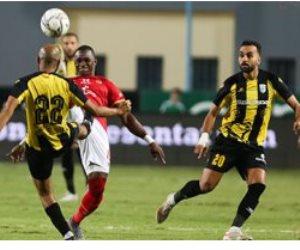 التعادل بدون أهداف بين الأهلي والمقاولون العرب في الشوط الأول بالدوري المصري (صور)
