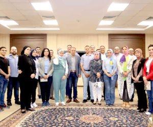 رئيس هيئة الكتاب يستقبل وفد تنسيقية شباب الأحزاب بمعرض القاهرة الدولى للكتاب