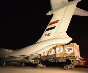 إستمرار الجسر الجوي.. مصر تواصل إرسال المساعدات الطبية للأشقاء فى تونس