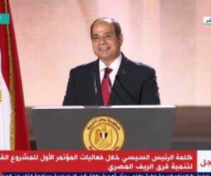 الرئيس السيسى: المساس بأمن مصر القومى خط أحمر لا يمكن اجتيازه