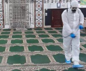 بدء حملات تعقيم المساجد في المحافظات استعدادا لصلاة عيد الأضحي.. صور