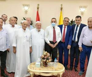 """""""شوشة"""" يستقبل مشايخ قبائل شمال سيناء ويؤكد قرب الإنتهاء من مدينة رفح الجديدة"""