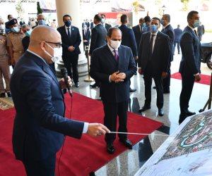 """الرئيس السيسي يتابع الموقف التنفيذى لمدينة الفنون فى """"العلمين الجديدة"""" (صور)"""