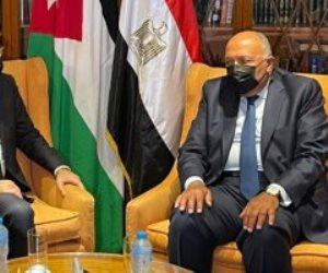 شكرى يبحث مع نظيره الأردنى تعزيز العلاقات والتنسيق حيال التطورات الإقليمية